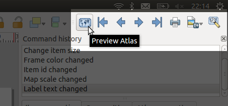 The new atlas preview toolbar