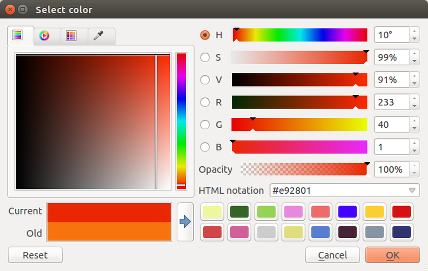 New QGIS colour picker