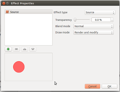 Effects Properties dialog